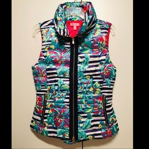LILLY PULITZER floral puffer vest